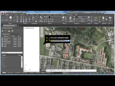 AutoCAD 2015_Scale an image with geo reference points