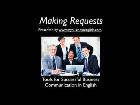 Making Requests in (Business) English