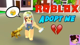 Im a Baby in Roblox & My Dad Abandons Me - Adopt me Roleplay  🍼 Titi Games