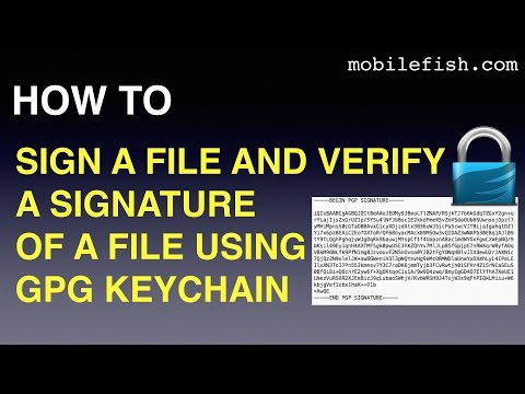 How to sign a file or verify a signature of a file using GPG keychain