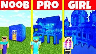 Minecraft Battle: NOOB vs PRO vs GIRL: WATER HOUSE BUILD CHALLENGE / Minecraft Animation
