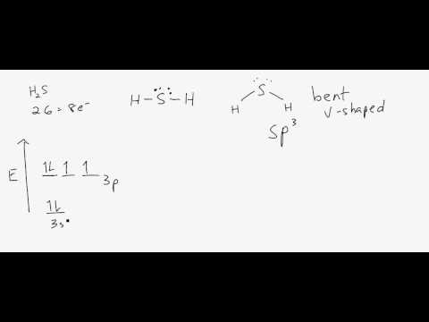 Lewis Structure, Molecular Shape and Hybridization for H2S