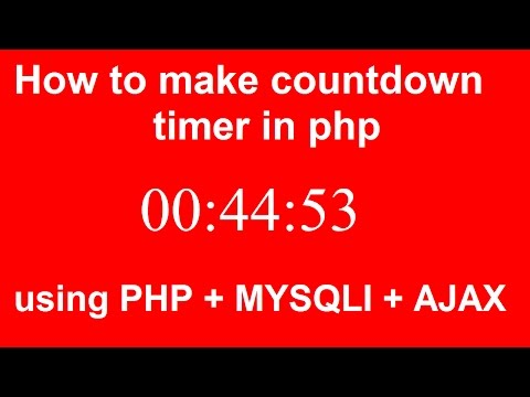 how to make dynamic countdown timer in php