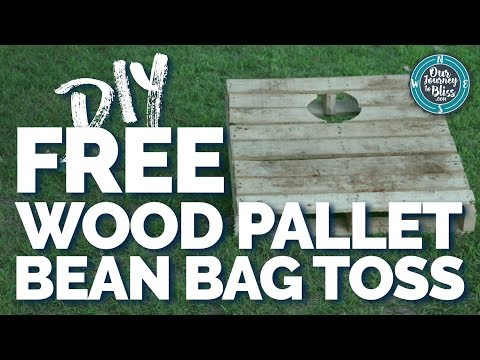 FREE WOOD PALLET BEAN BAG TOSS | HOW TO MAKE ONE YOURSELF!!!