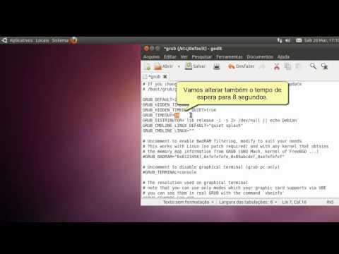 Editando o menu do Grub e removendo as várias entradas de kernels antigos