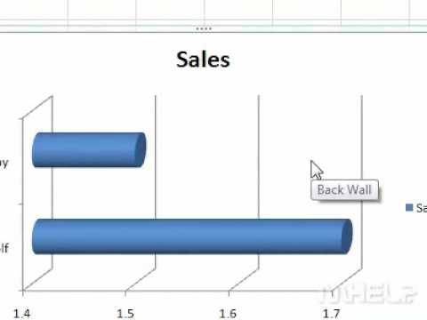 How to insert a cylinder bar chart