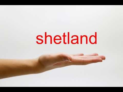 How to Pronounce shetland - American English