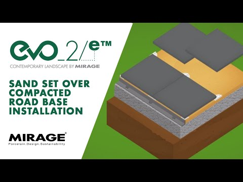 Tutorial Evo_2/e | Sand set over compacted road base installation