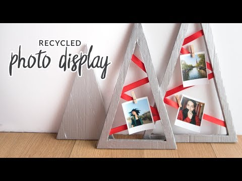 DIY Recycled Christmas Photo Display | Holiday Room Decor (collab with Damsels in DIY)