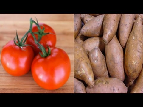 2 Cancer Fighting Superfoods - Tomatoes and Sweet Potatoes