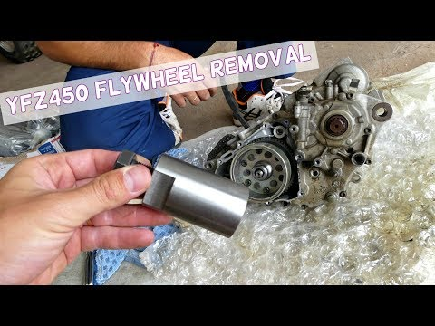 YAMAHA YFZ450 FLYWHEEL REMOVAL with Special Tool Fly Wheel Puller