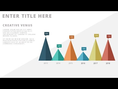 The Secret of Creating Custom Chart Design in Microsoft PowerPoint PPT |  Flat Chart Design
