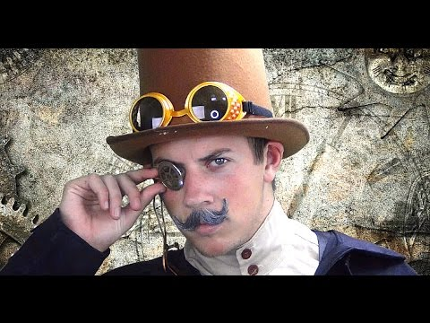 MEN'S STEAMPUNK COSTUME LOOK // Makeup How-to
