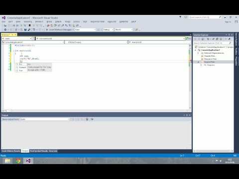 How to create standard C project in Visual Studio 2012/2013