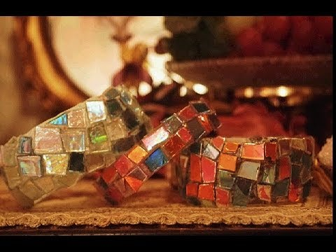Mosaic bracelet from Old Cd's and Water Bottle ...