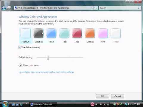 how to change windows vista colour