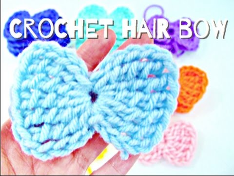 How to: Crochet Hair Bow (Simple and Easy!)