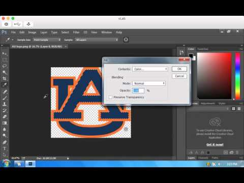How to change the color of a logo using Photoshop