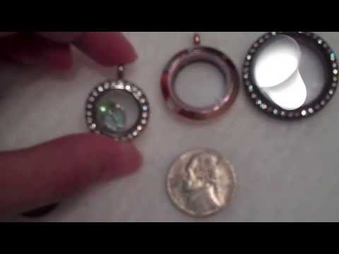 {Origami Owl} comparing locket sizes