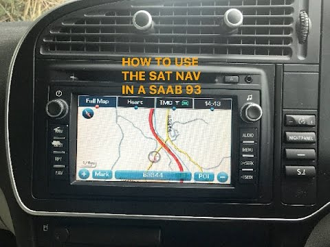 How to use work the factory sat nav in a saab 93 9-3 aero - DADDY VIDEOS