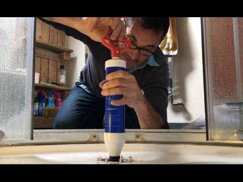 Best way to unblock a clogged shower drain, no chemicals