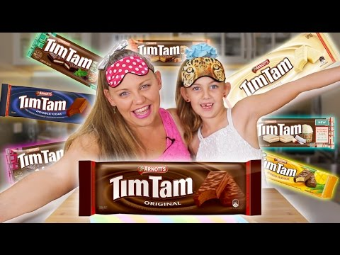 COOKIE CHALLENGE!! 8 Flavor Taste Test! Let's Crown the Tim Tam King!