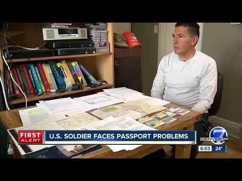 US soldier faces passport problems