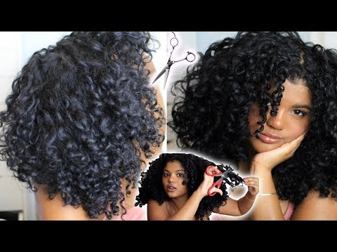 How I Trim My Curly Hair (For Volume)