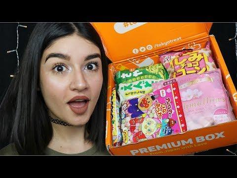 ASMR Unboxing Japanese Candy (TokyoTreat) ♡