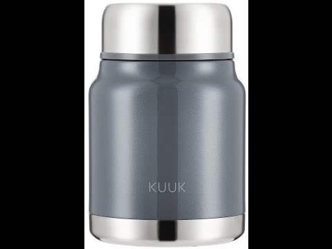 Kuuk Lunch / Soup Container thermos Flask To Go - 17oz Video Review