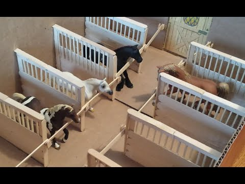 How to make Schleich / Breyer Horse Stall Dividers, for a Box Barn.