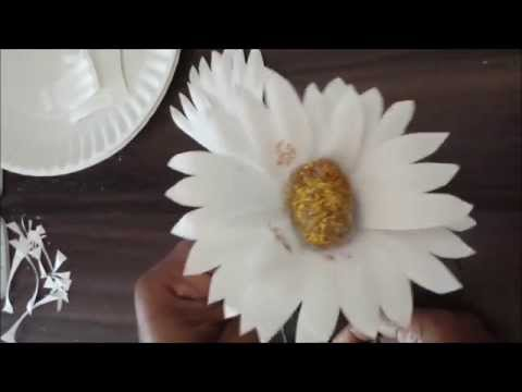 how to make flowers from paper plates