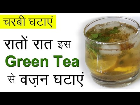 Fast Weight Loss with Green Tea | Healthy Weight Loss Recipes | Iced Green Tea Drink For Weight Loss
