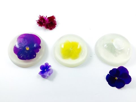 How to make EDIBLE FLOWER RAINDROP CAKE-Mizu Shingen Mochi