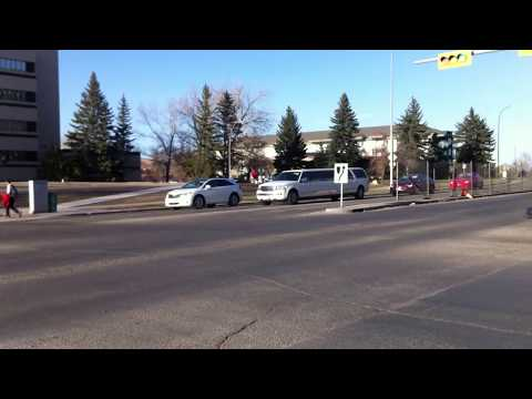 Lincoln Navigator Limousine Drive By in Calgary