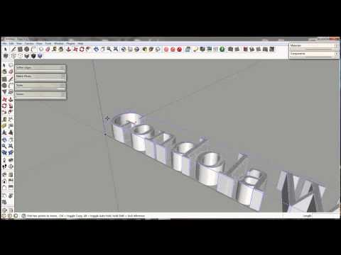 Google Sketchup - 3D Text Tool Tutorial
