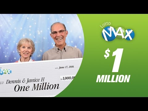 Dennis & Janice LOTTO MAX MAXMILLION winners from B.C!