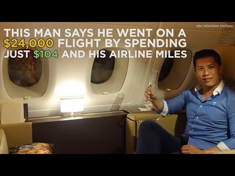 Man pays for $24,000 flight by spending just $104 and his airline miles