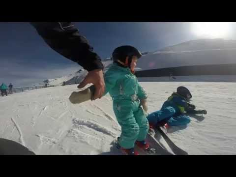 How to teach a two year old to ski