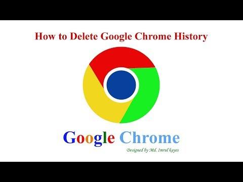 How to delete Google Chrome history Bangla Tutorial