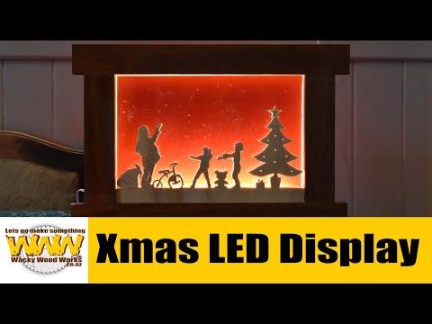 How I make a Xmas LED Light Display Box -  Wacky Wood Works.