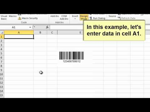 How to Create Barcodes in Microsoft Excel 2010 using the Barcode ActiveX Control