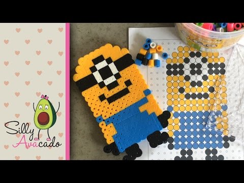 How to Make a Minion w/ Biggie Beads! Template Included for little kids! Stuart from Despicable Me!