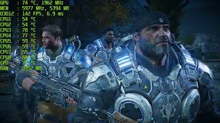 Gears of War 4 PC GTX 1080 Ti DX12 Act 2 + Game literally crashed
