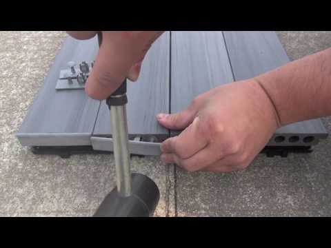 Deck-A-Floor End Cap Installation