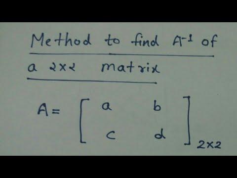 Inverse of a 2x2 matrix in Hindi :- Gourav manjrekar