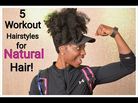 5 EASY Workout Hairstyles for NATURAL hair!
