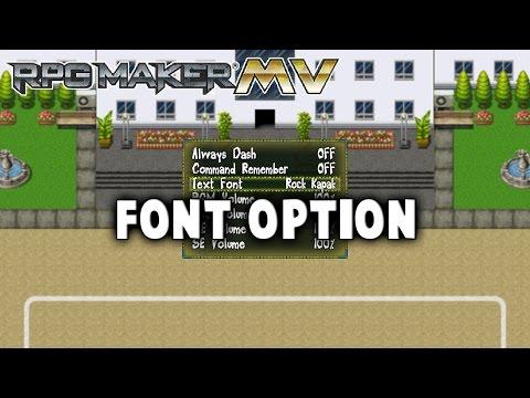 Font Option Plugin - RPG Maker MV