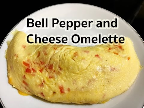 How to make Bell Pepper and Cheese Omelette