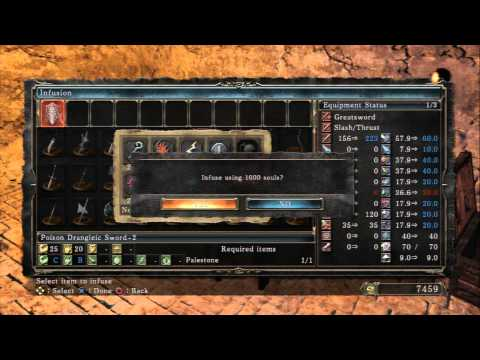 Dark Souls II - Steady Hand McDuff's Workshop: Use Palestone To Undue Infusion on Pursuer's Sword